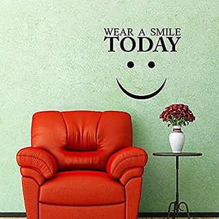 Asmi Collections Wear a Smile Today Wall Sticker