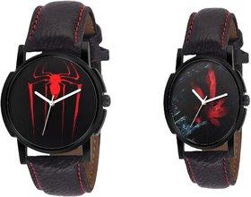Combo Of 2 Eraa Men Red & Black Analog Wrist Watch Coll