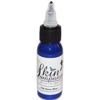 Skin Companion Tattoo Ink 1oz Bottle Made in USA (Old Navy Blue )