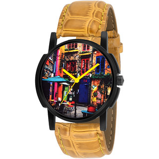 Eraa Men Analog Mustard Look wrist watch