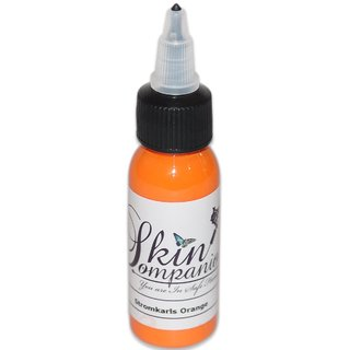 Skin Companion Tattoo Ink 1oz Bottle Made in USA (Stromkarls Orange )