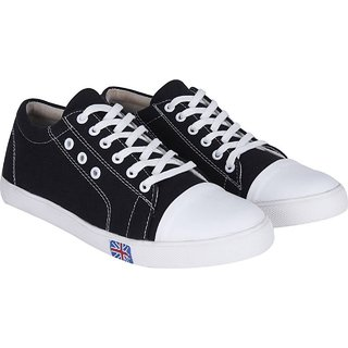 S37 Men's Black Canvas Casual Shoes