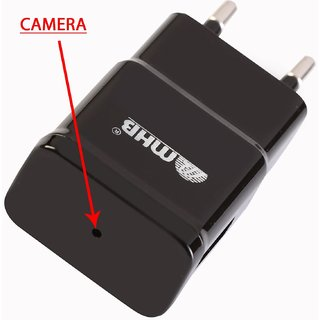 M MHB New Full HD 1080p Plug Wall Charger Adapter Camera Hidden Mini Pin Hole camcorder Secret Spy cam Support 32gb card. While recording no light Flashes.
