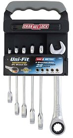 Channellock 38036 6 pcs. unifit ratcheting combination wrench set