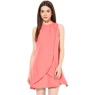 e13687fc1 Buy Miss Chase Women S Coral Boat Neck Cap Sleeves Bodycon Dresses ...