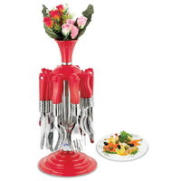 Deluxe Cutlery Set With Stand - 24 Pcs (AB - 101)