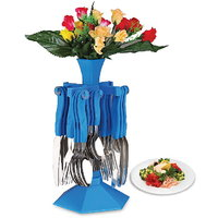 Sparkle Cutlery Set With Stand - 24 Pcs (AB - 103)