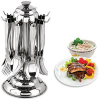 Standard Cutlery Set With Stand - 24 Pcs (AB - 105)
