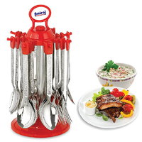 Popular Cutlery Set With Stand - 24 Pcs (AB - 106)