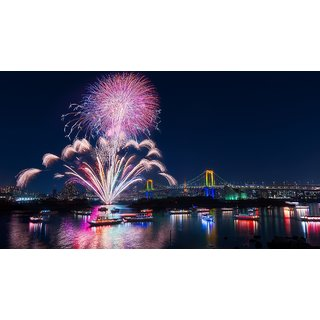 Asmi Collections Beautiful Tokyo FireWorks Painting Sticker