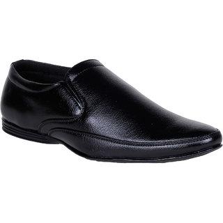 Kraasa  Men'S Black Slip On  Formal Shoes