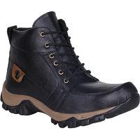 Kraasa  Men'S Black Long Boots