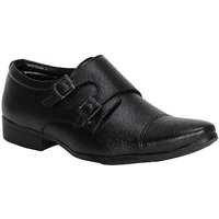 Kraasa  Men'S Black Monk Strap  Formal Shoes