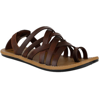 Kraasa  Men's  Brown Sandals