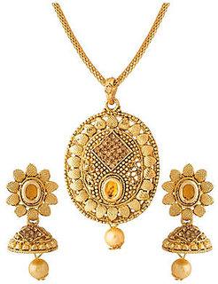 Necklace Pendants Set Designer Gold