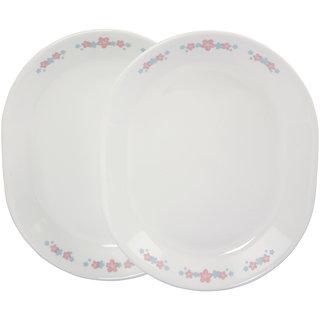 Corelle India Impressions Melody 2 Pcs Oval Serving Platter