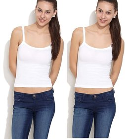 Pack of 2 - College Girl  100% Cotton Camisoles
