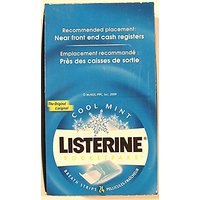 Listerine Pocket Paks Oral Care Breath Strips (Cool Mint), Kills Germs For
