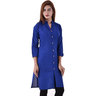 Jewel Fab Art Exclusive Collections Women'S Plain Straight Cotton Casual Kurti