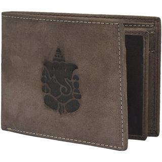 Krosshorn Dark Brown Hunter Leather Wallet for Men
