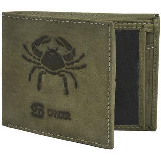b802ce1ca976 Krosshorn Olive Green Hunter Leather Wallet for Men