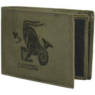 Krosshorn Olive Green Hunter Leather Wallet for Men