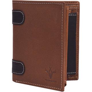 Krosshorn Brown Hunter Leather Wallet for Men