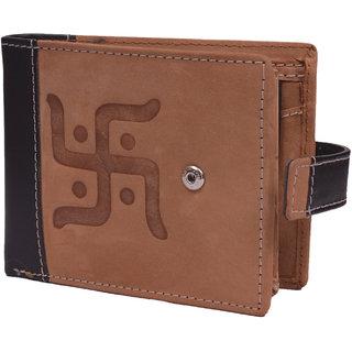 Krosshorn Tan Hunter Leather Wallet for Men