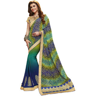 d39027abcad142 Buy Kvsfab Multicolor Georgette Embroidered Saree With Blouse Online - Get  69% Off