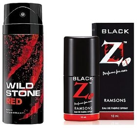 Dashing Deo Deal - Wildstone Spray Deo + Black Z Pocket Perfume - 20ml (Set of 2)