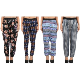 Buy Timbre Women Pack Of 4 Designer Printed Cigarette Pants Combo Online 699 From Shopclues