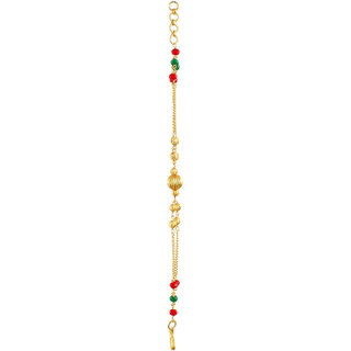 Mann Collection Gold Plated Multicolor Pearl bracelet