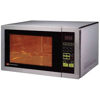 White Westinghouse 32ltr Digital Microwave With Stainless Steel Cabinet Doors Interior
