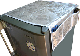 Printed Polyester Fridge Covers With 6 Pockets