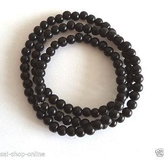 Buy Black Stone Beads Stretchable Mala Bracelet Wrist Band Men S