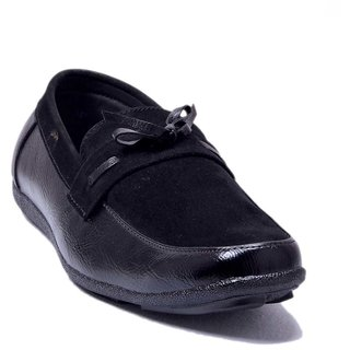 At Classic Leather  Suede Combination Loafers
