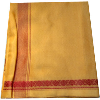 Indian Golden Pure Cotton Dhoti for Men Lungi Sarang Mandu From Banaras Gift
