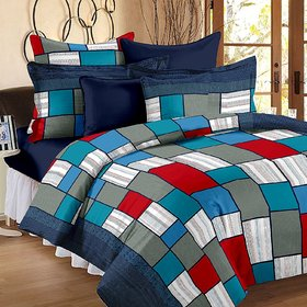 Story@Home Candy 120 TC Cotton Bedsheets For Double Bed, Checks