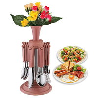 Economy Cutlery Set With Stand - 24 Pcs (AB - 109)