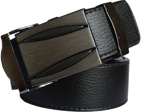 Ws Deal Black Formal Auto Lock Buckle Belts Free Size (28 to 44)