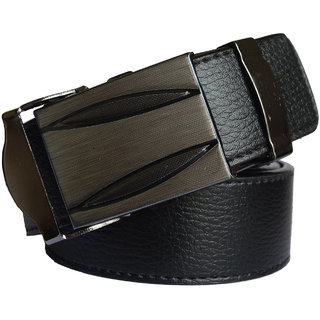 Ws Deal Black Formal Auto Lock Buckle Belts Free Size (28 to 44) (Synthetic leather/Rexine)