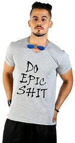 Cotton Grey Roundneck Tshirt