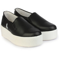 Do Bhai Women's Black Smart Casuals Shoes