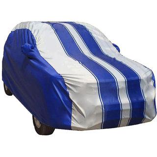 Autofurnish  Ace Printed Stripe Car Body Cover For  Tata Safari -  Ace Grey Blue