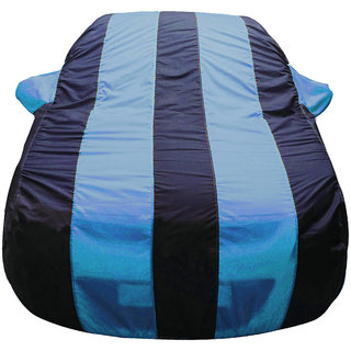 Autofurnish  Stylish Aqua Stripe  Car Body Cover For Hyundai Santro -  Arc Blue