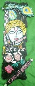 Krishna wall show piece