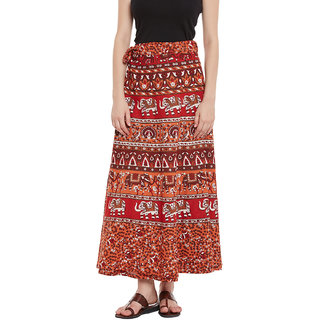 281379a9e9 Buy Multi Color Printed Wrap Around Skirt Online - Get 40% Off