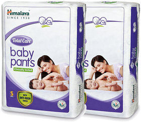 Himalaya TOTAL CARE BABY PANTS DIAPERS-S-54'S (Pack of 2)