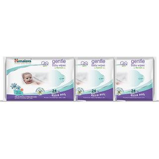 Himalaya Gentle Baby Wipes 24s (Pack of 3)