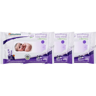 Himalaya Soothing Baby Wipes 24's (Pack of 3)
